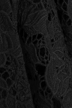 MARKUS LUPFER Guipure lace midi skirt
