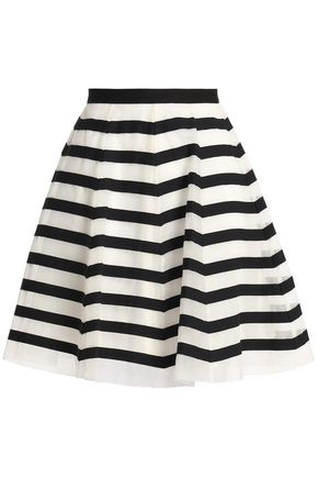 REDValentino Striped organza skirt