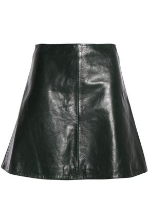 REDValentino Leather mini skirt