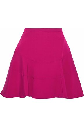 ANTONIO BERARDI Flared crepe de chine mini skirt