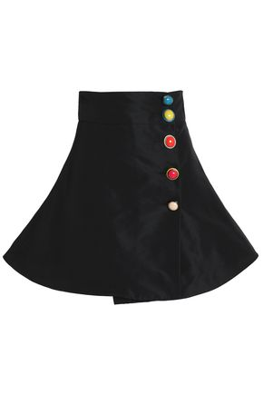 REDValentino Button-detailed faille mini skirt