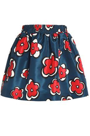 REDValentino Floral-print faille mini skirt