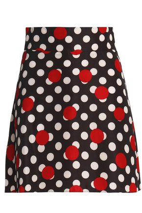 REDValentino Polka-dot crepe mini skirt