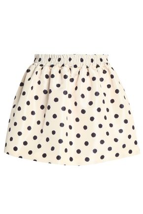 REDValentino Printed faille mini skirt