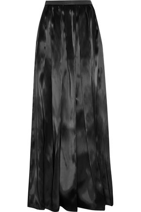BRUNELLO CUCINELLI Bead-embellished pleated organza maxi skirt
