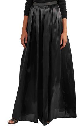 BRUNELLO CUCINELLI Pleated organza maxi skirt