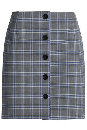 CLAUDIE PIERLOT Checked woven mini skirt
