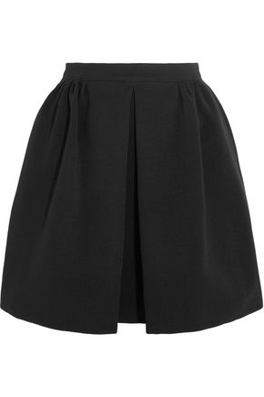 MIU MIU Pleated stretch-jersey mini skirt