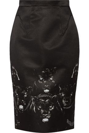 GIVENCHY Printed satin skirt