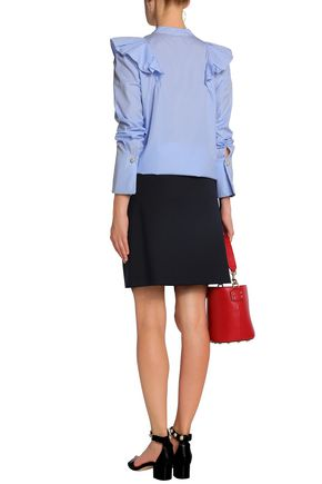 CLAUDIE PIERLOT Pleated twill mini skirt