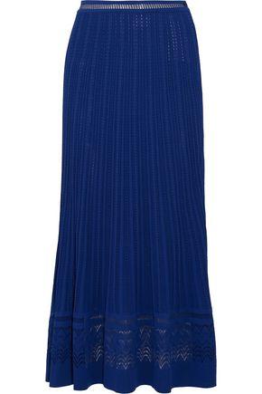 OSCAR DE LA RENTA Pointelle-knit maxi skirt