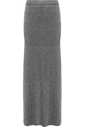 MISSONI Metallic stretch-knit maxi skirt