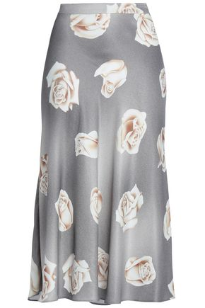 BOUTIQUE MOSCHINO Printed satin skirt