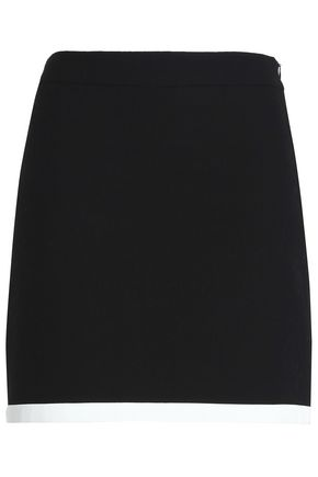 BOUTIQUE MOSCHINO Cotton-blend jacqaurd mini skirt