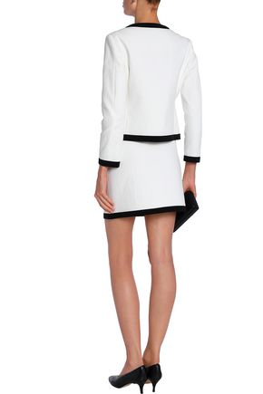 BOUTIQUE MOSCHINO Cotton-blend jacquard mini skirt