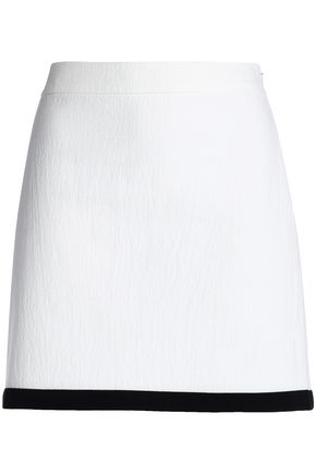 BOUTIQUE MOSCHINO Cotton-blend jacqaurd mini skirt