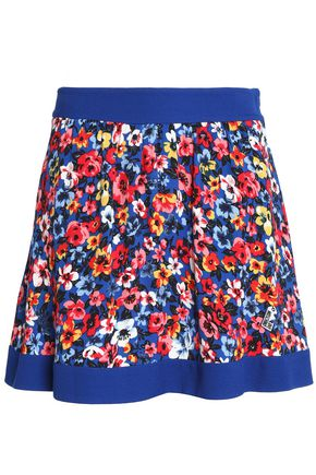 LOVE MOSCHINO Floral-print crepe mini skirt