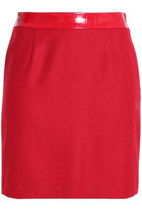 LOVE MOSCHINO Wool-blend mini skirt