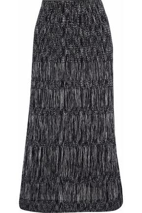MISSONI Crochet-knit cotton-blend midi skirt