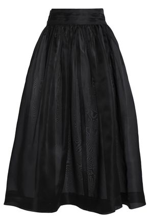 GANNI Silk-organza midi skirt