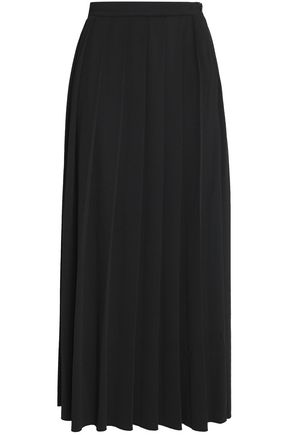 LOVE MOSCHINO Pleated crepe midi skirt