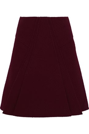 ROLAND MOURET Pleated cloqué mini skirt