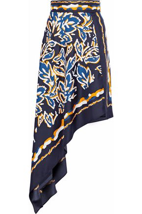 PETER PILOTTO Asymmetric printed silk skirt