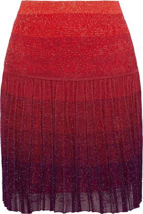 ROBERTO CAVALLI Metallic dégradé crochet-knit mini skirt