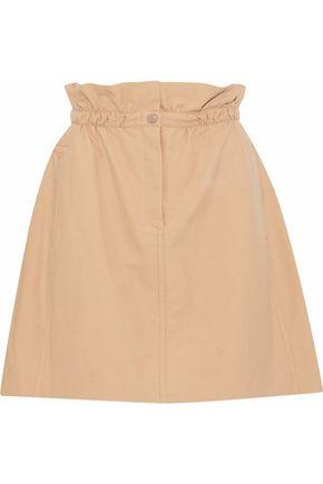 NINA RICCI Gathered cotton mini skirt