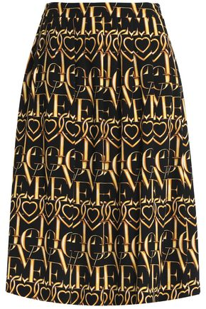 LOVE MOSCHINO Printed jacquard midi skirt