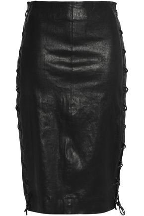 J BRAND Lace-up leather skirt