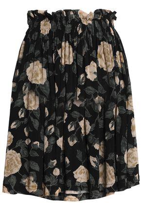 GANNI Carlton floral-print georgette mini skirt