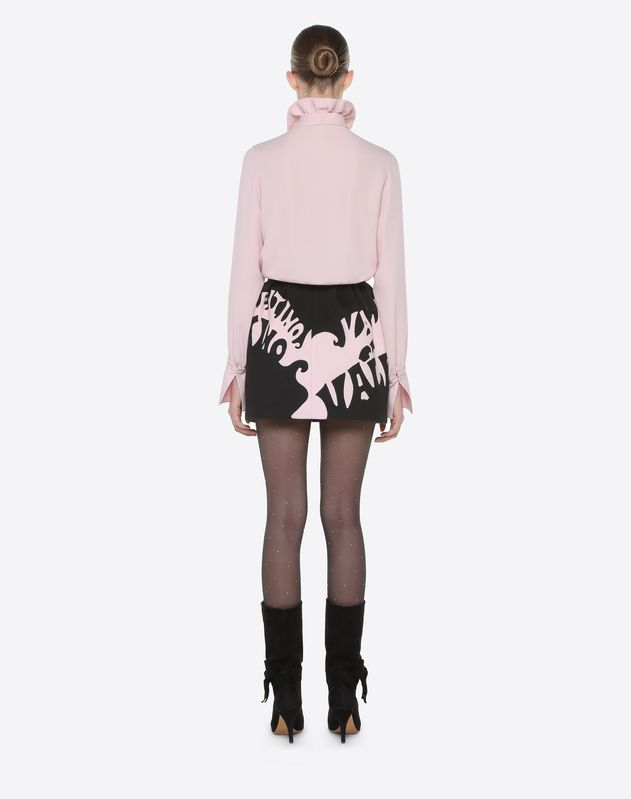Valentino Waves Mini Skirt