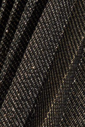 REEM ACRA Pleated lamé skirt