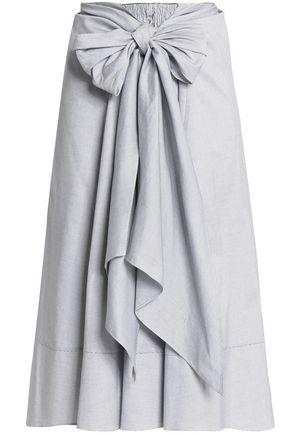 TOME Tie-front cotton skirt