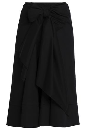 TOME Stretch-cotton gabardine midi skirt