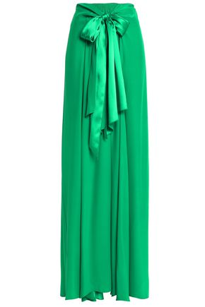 TOME Tie-front silk maxi skirt