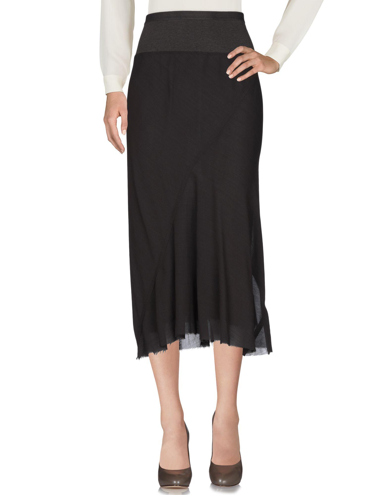 RICK OWENS Юбка длиной 3/4 moschino couture юбка длиной 3 4