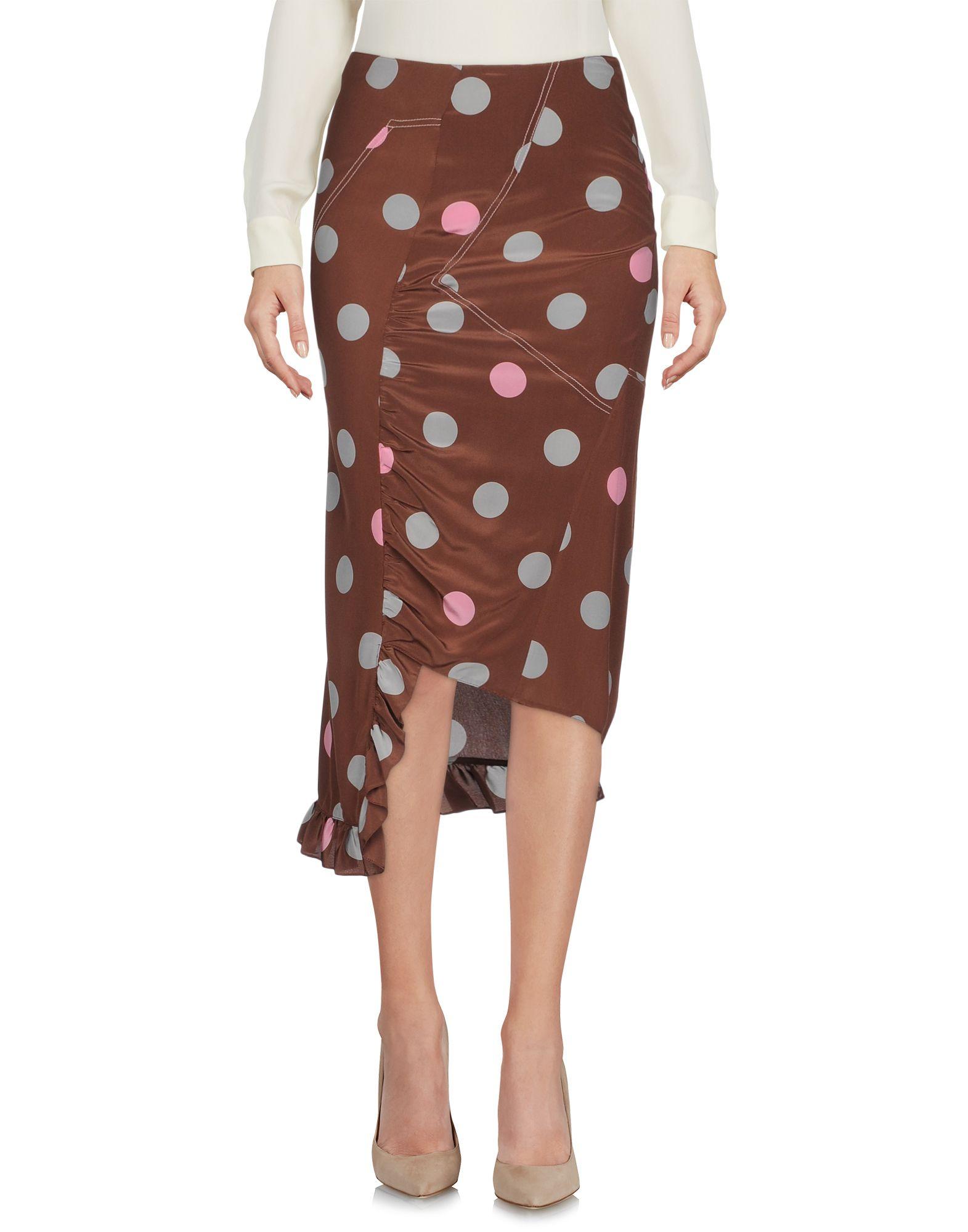 MARNI Юбка длиной 3/4 marni хлопковая юбка с бантом