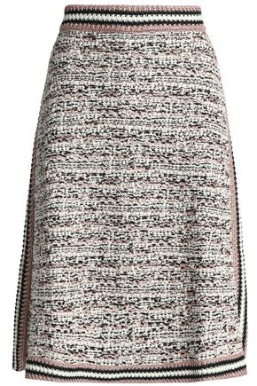 M MISSONI Metallic wool-blend bouclé-knit skirt
