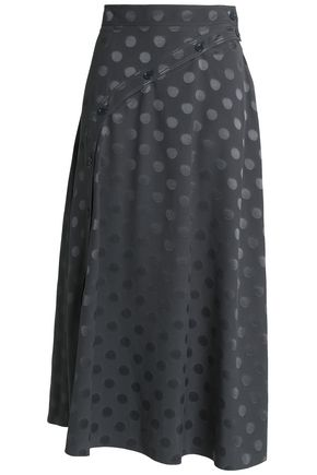 NINA RICCI Silk-jacquard midi skirt