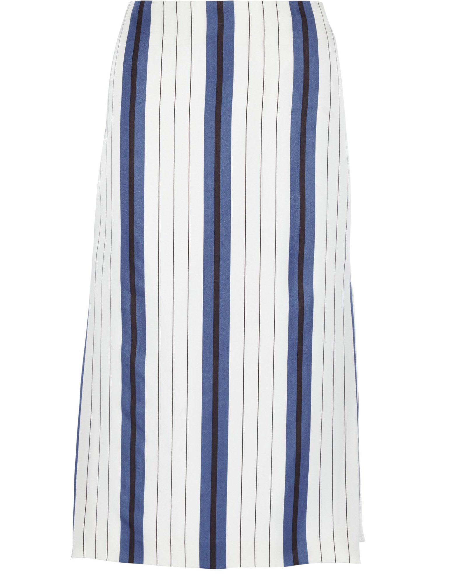《送料無料》PROTAGONIST レディース 7分丈スカート ホワイト 8 シルク 100%