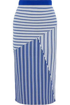 REBECCA VALLANCE Corsica striped jacquard-knit skirt