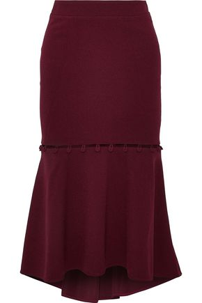 REBECCA VALLANCE Cortona convertible fluted crepe skirt