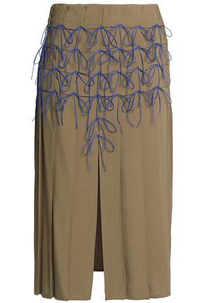MARCO DE VINCENZO Bow-detailed woven skirt