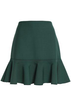 VICTORIA, VICTORIA BECKHAM Fluted crepe mini skirt