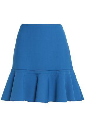 VICTORIA, VICTORIA BECKHAM Flared ponte mini skirt