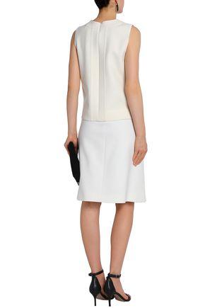 VICTORIA, VICTORIA BECKHAM Wool-blend crepe skirt