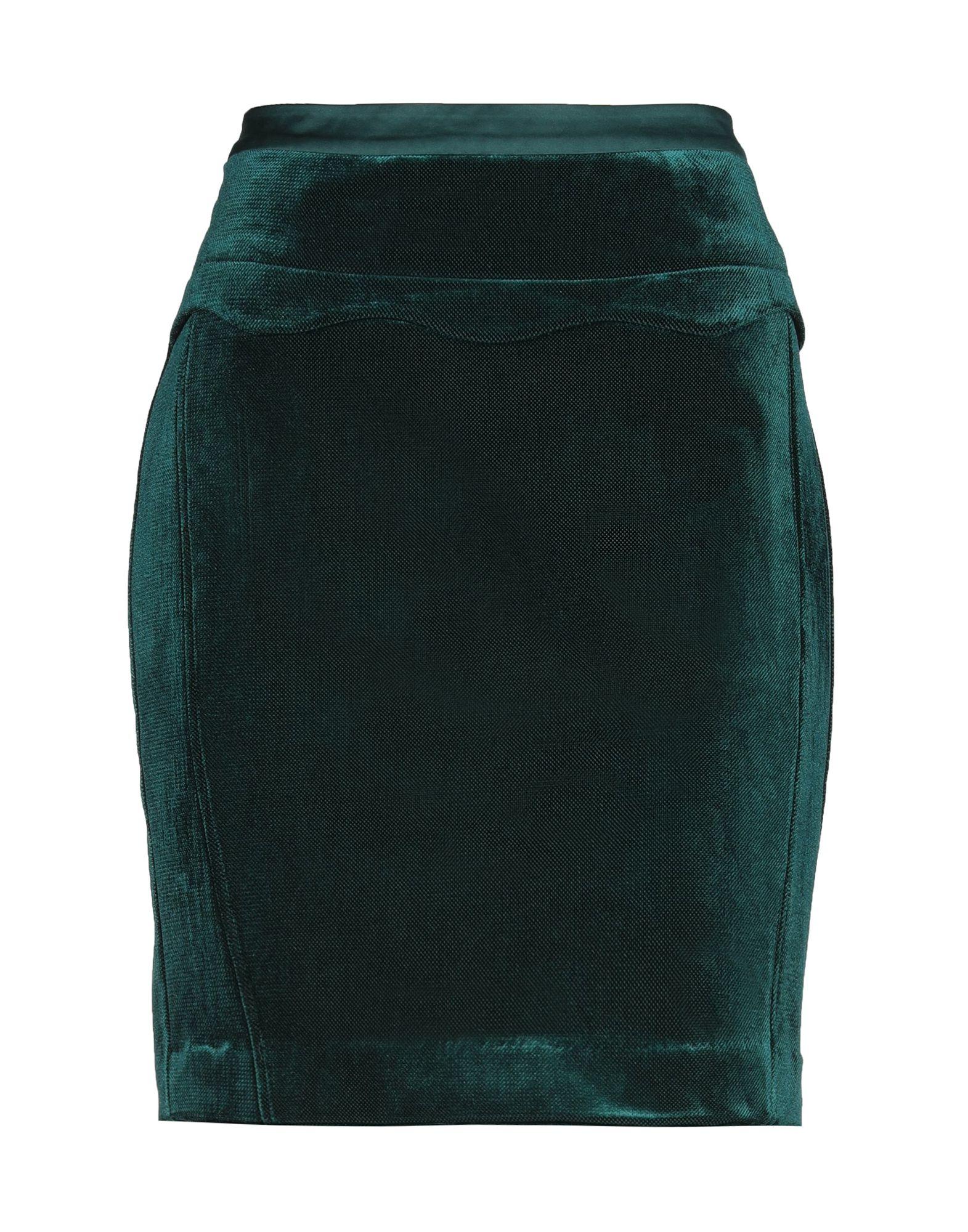 《送料無料》AXEL レディース ひざ丈スカート ダークグリーン M ポリエステル 100%