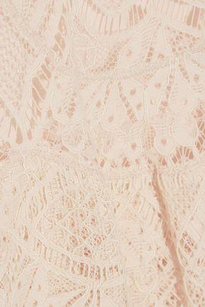 JONATHAN SIMKHAI Two-tone corded lace midi skirt